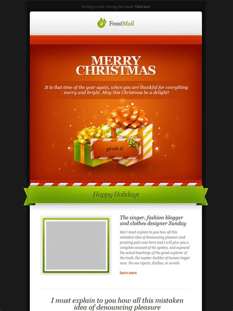 christmas themes for emails feast mail 2 christmas email template retro premium
