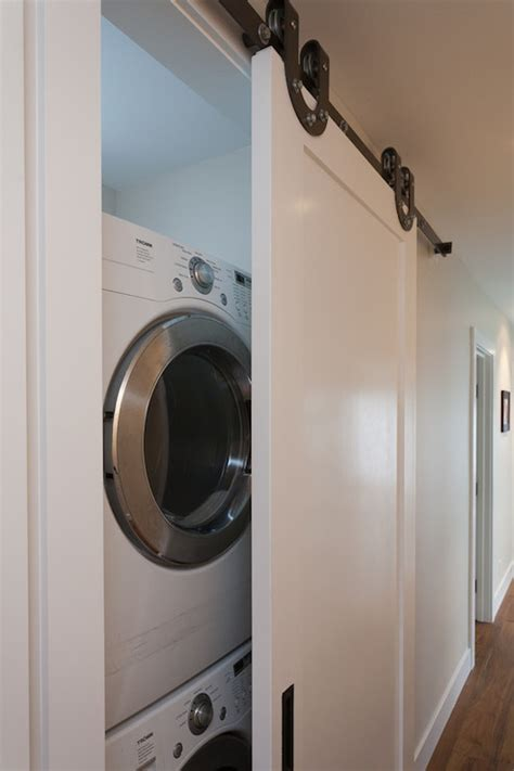 concealed washer and dryer concealed laundry room design ideas