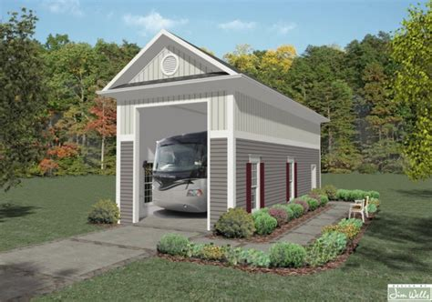 motorhome garage rv garage one 1683 the house designers