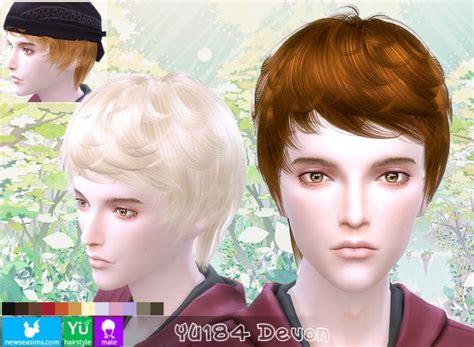 pretty sims cc hairstyles short yu184 devon hair at newsea sims 4 187 sims 4 updates