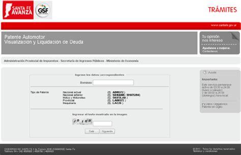 imprimir boleta ingresos brutos santa fe deuda patente automotor rosario ok che blog argentina