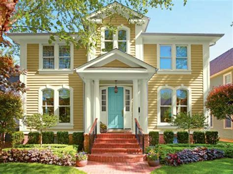 bright and cheery paint color ideas for ornate houses this house