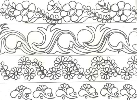 Mehndi Sketch Embroidery Painting Latest Border Designs