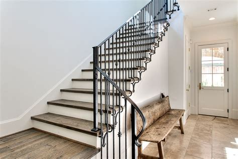 stair railing designs Staircase Transitional with