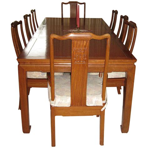 Modern Dining Room Table Png Vintage Rosewood Dining Table Burl Top And Eight Chairs From Eurasiafineart On Ruby