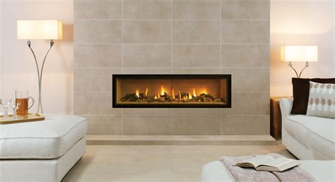 In Wall Gas Fireplace by Gazco Studio Edge In Wall Gas York Fireplaces