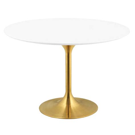 odyssey dining table odyssey 47 quot modern gold dining table eurway
