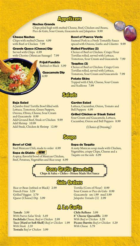 la carte menu menu appetizers soups salads free stuff side