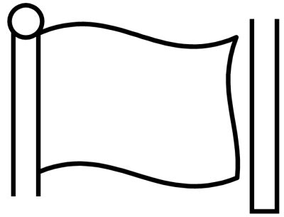 Blank Flag Coloring Page end of year lesson plans teaching resources for june and july