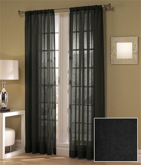 black sheer drapes set of two maytex window curtains