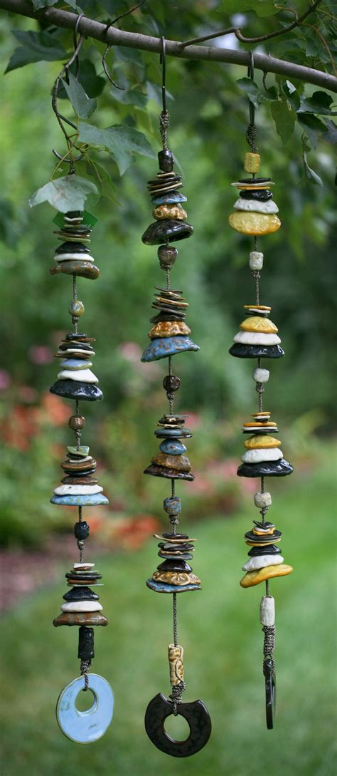 ceramic wind chime mobile wind chimes pottery ceramics