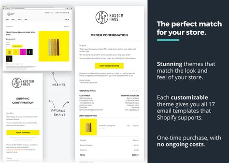 Orderlyemails Customizable Email Templates Ecommerce Plugins For Online Stores Shopify App Free Shopify Email Templates