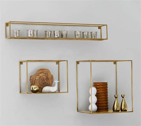 pottery barn wall shelves cube display shelves pottery barn