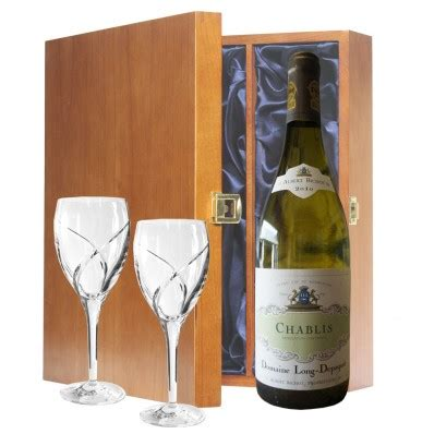 havens wine gift sets bottle chablis and pair waterford