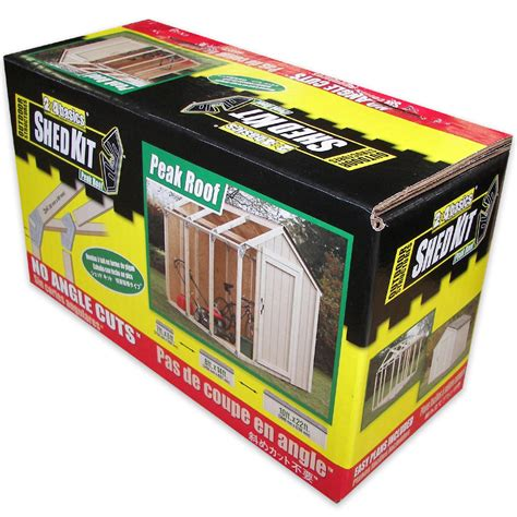 2x4 Shed Kit by 2x4 Basics Diy Shed Kit Peak Roof Style Highway475