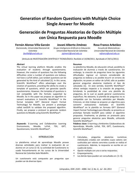 preguntas aleatorias pdf generaci 243 n de preguntas aleatorias de opci 243 n