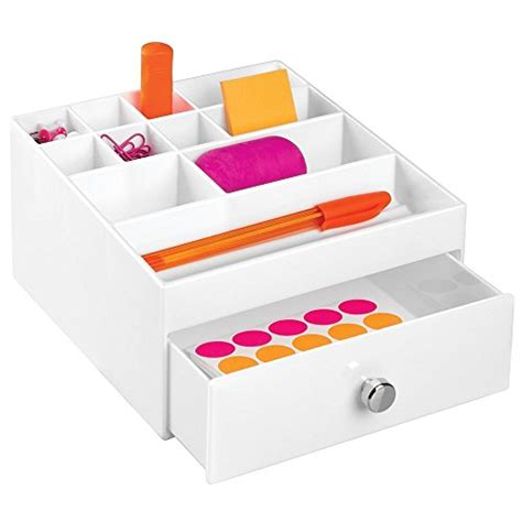 Office Depot Desk Organizer Mdesign Office Supplies Desk Drawer Organizer For Scissors Pens Highlighters Sticky Notes