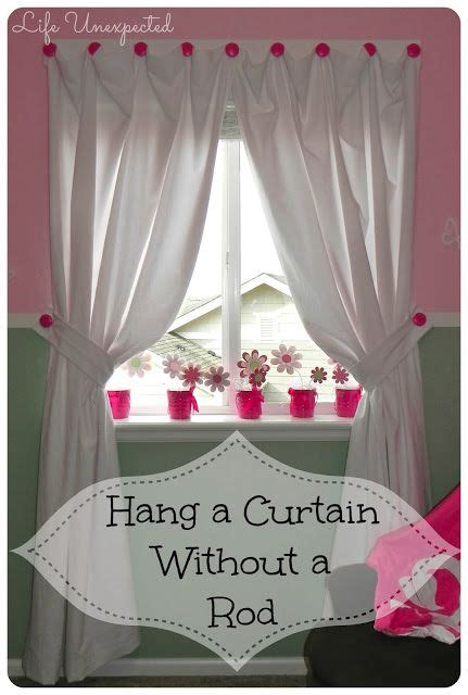 ideas for hanging curtains without rods how to hang a curtain without a rod use this to hang the