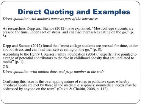 Apa Citation Quote