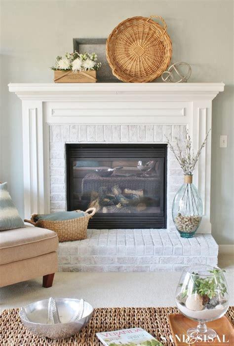 whitewash brick fireplace brick fireplace
