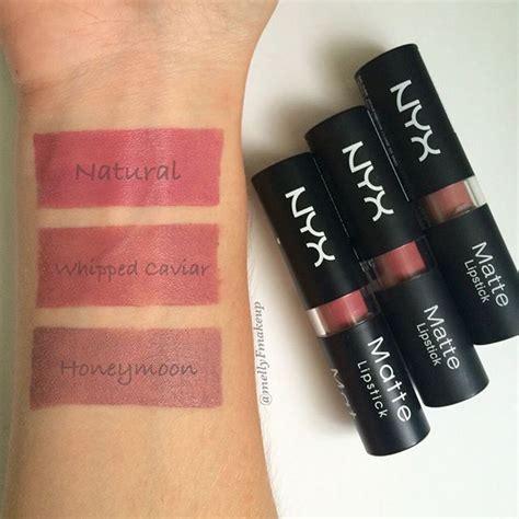 Nyx Matte Me nyx matte lipsticks in caviar and