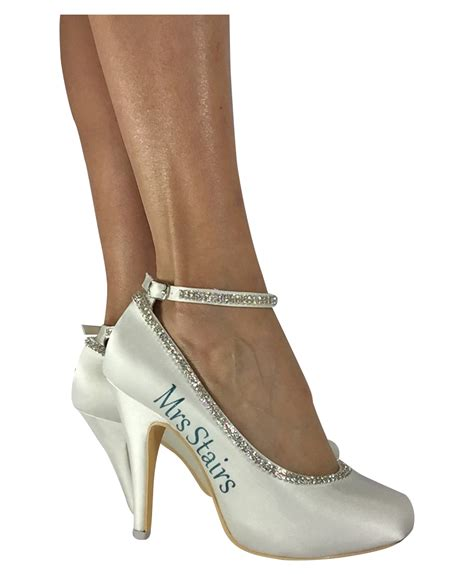 bling high heels teal and rhinestone bling 4 quot ivory bridal high heels any