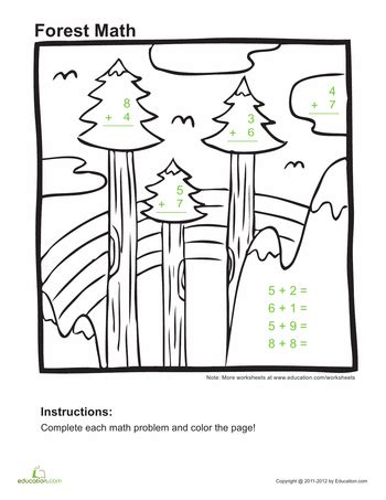 educational coloring pages for first grade addition coloring pages 1st grade education com