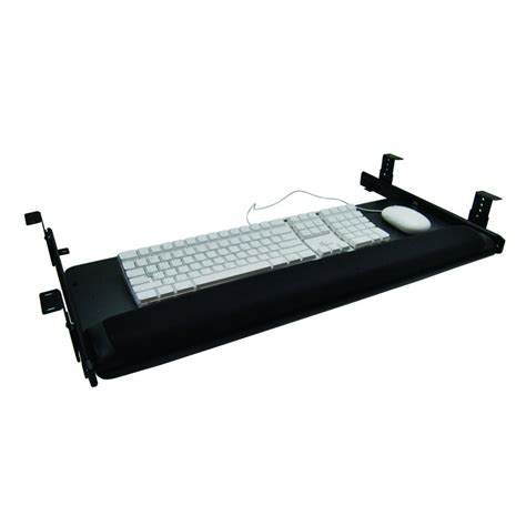 keyboard drawer slides sunway inc keyboard mouse slide drawer system 28 quot w black