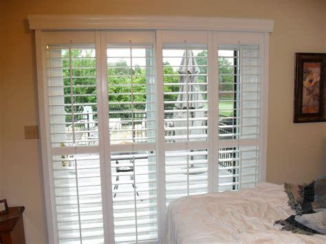 Patio Door Sliding Shutters by Sliding Glass Door Blinds Diy Home Ideas Collection