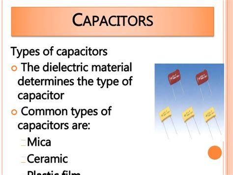 capacitor material types electrostatics for m 6