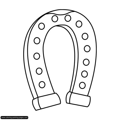 coloring page horseshoe free coloring pages of horseshoes