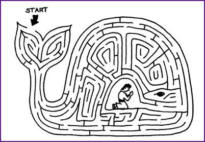 jonah preached coloring page maze and story jonah and great fish kids korner