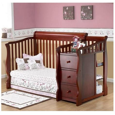 Convertible Nursery Furniture Sets Convertible Baby Crib Changing Table Combo Nursery Furniture 4 In 1 Bed Toddler Nursery