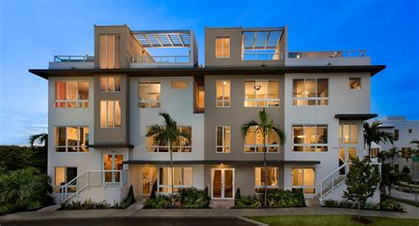 landmark 3 story townhomes new home community doral