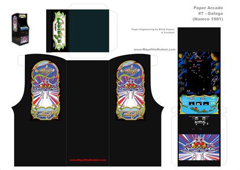 Arcade Papercraft - pacman arcade machine papercraft www imgkid the