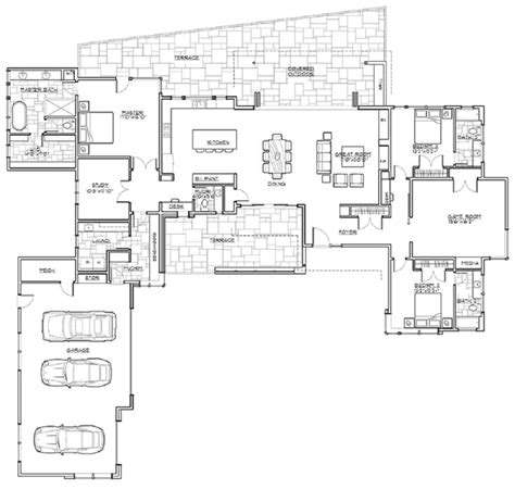 single story open floor house plans best 25 single story homes ideas on house