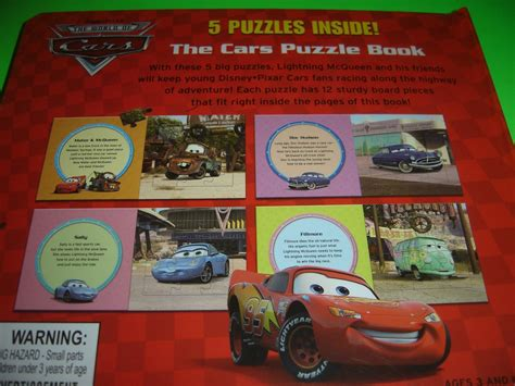 cars puzzle book disney pixar cars with 5 puzzles inside