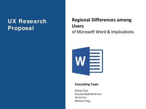 Ux Research Proposal Microsoft Word Regional Differences Among Us Ux Research Plan Template