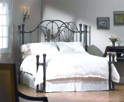 Wrought Iron Headboard And Footboard by King Metal Bed Frame Headboard Footboard Hamipara