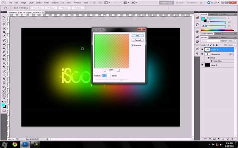 youtube photoshop tutorial cs5 photoshop cs5 neon glow text effect tutorial youtube