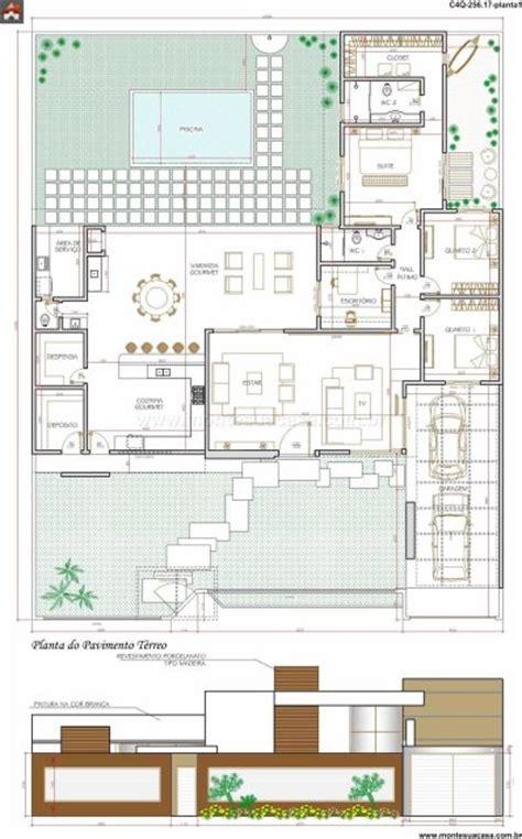 plantas casas 45 plantas de casas modernas e lindas projeto 3d gr 225 tis