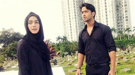 Jilbab Instan Najwa Cinta Dilangit Taj Mahal nabila shaheer akhirnya syuting bareng untuk cinta di