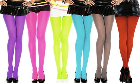 plus size colored tights solid color opaque tights groupon goods