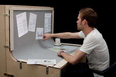 touch screen desk surface benddesk introduced the desk that is a touch screen w