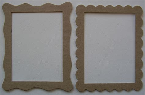 Frame Chipboard 5 frame variety bare picture frame chipboard die cuts 1 of each design ebay