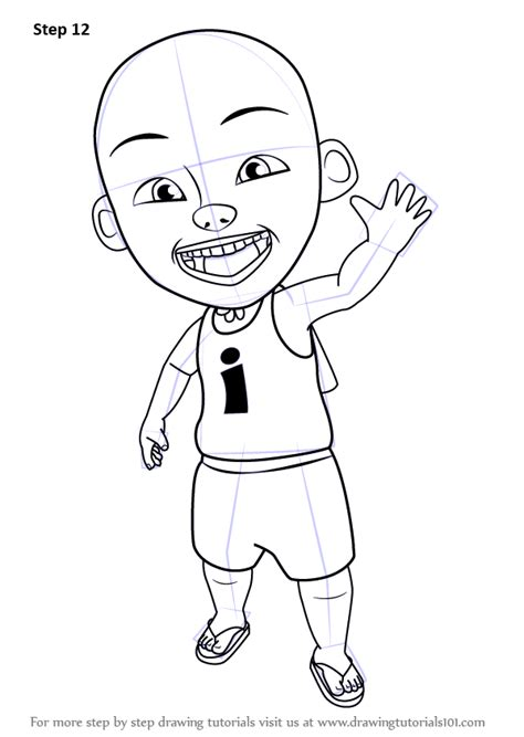 tutorial menggambar upin ipin learn how to draw ipin from upin ipin upin ipin step