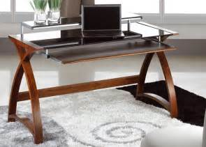 Glass And Wood Computer Desk Jual 1300mm Curve Wood And Glass Computer Desk Home Office Desks Uk Ireland