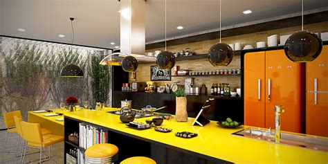 orange and yellow kitchen 22 yellow accent kitchens that really shine