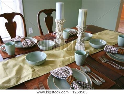 dining room table setting stock photo stock images