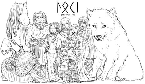 Also Love This Is Loki And Sigyn's Extended Family Including  sketch template